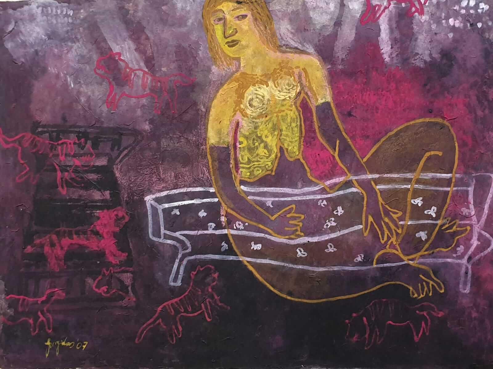 Gargi Roy Chowdhury   Mixed Media on Paper   30 x 20 inches