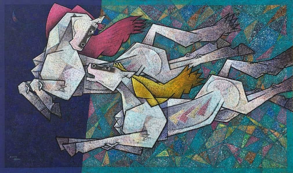 Dinkar Jadhav Acrylic on Canvas 42×72 inches