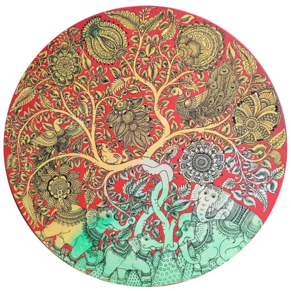 Harinath N Acrylic on Canvas 24×24 inches (Dia)