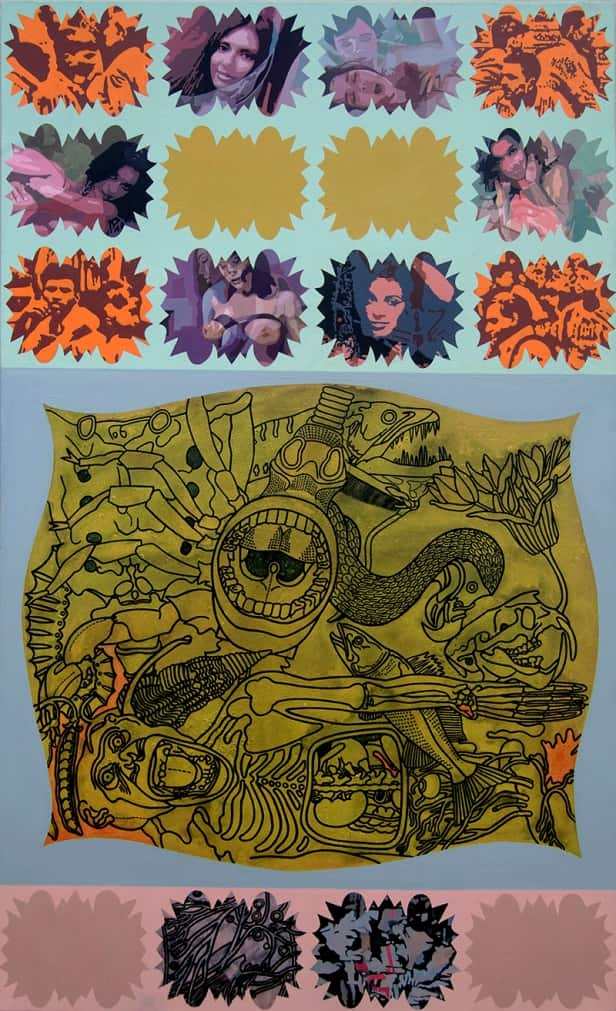 Joydip Sengupta Bloom Acrylic on Canvas 60×36 inches 2014