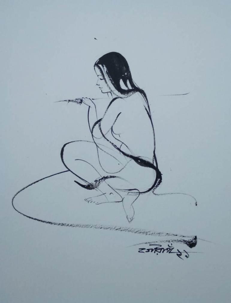 Gouranga Beshai Watercolour on Paper 11×8.5 inches